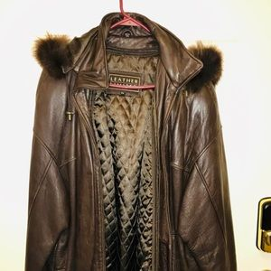 Leather Limited Brown Leather Bomber